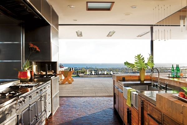 ocean views open kitchen design luxury decoration Beautiful and Functional Kitchen Design Inspirations