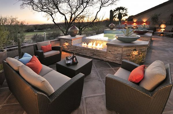 outdoor furniture with fireplace and small hot tub Sonoran Desert 6 Home Decor Inspiration from the Sonoran Desert