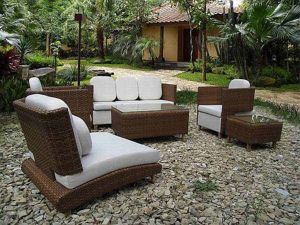 Outdoor design choosing elegant patio furniture for Patio furniture designs plans