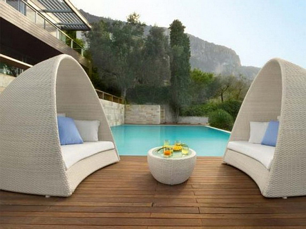 Outdoor design choosing elegant patio furniture for Mobilier de jardin