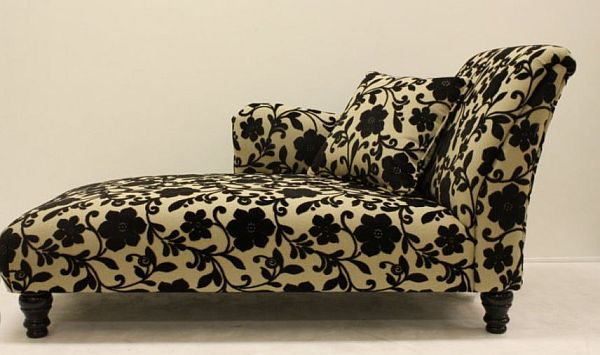patterned upholstery chaise lounge