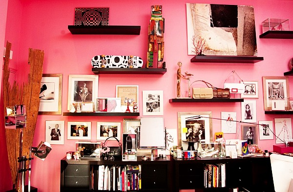 pink painted walls