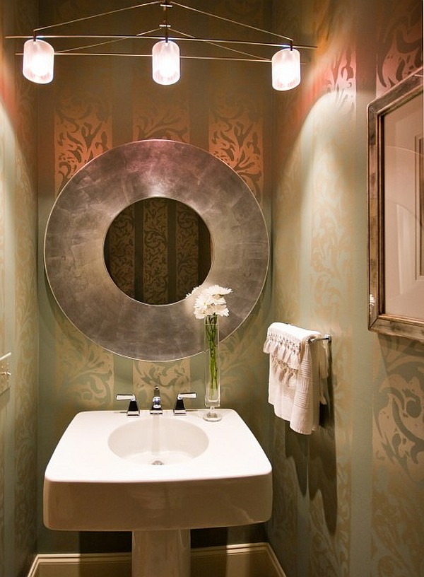 Guest bathroom powder room design ideas 20 photos for Bathroom powder room designs