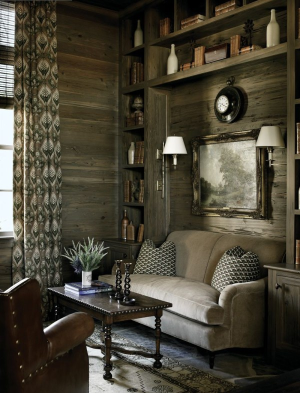 refined rustic living room 600x786 DIY Fusion Of Styles: Compromising in an Artistic Way