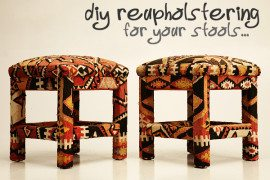 Reupholstering Your Stool in Under Six Easy Steps