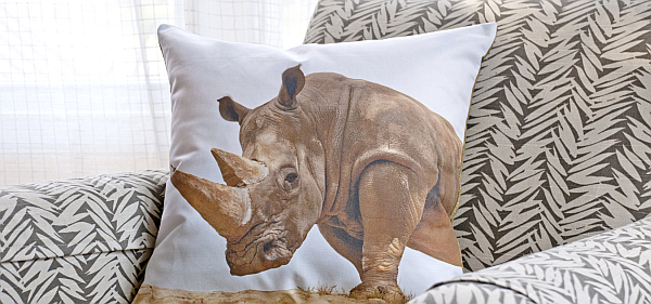 rhino pillow cushion Pillow Cushions: Fable & Exotic Collections by East Camp Home