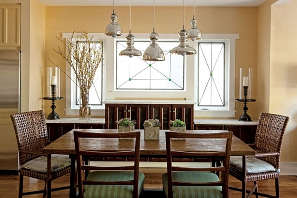 Dining room decorating ideas 19 designs that will inspire you for Centerpiece ideas for small dining room table