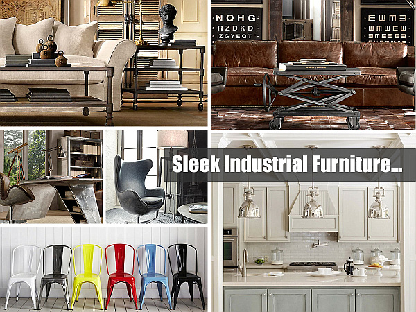 sleek industrial furniture 25 Sleek Industrial Furniture Finds