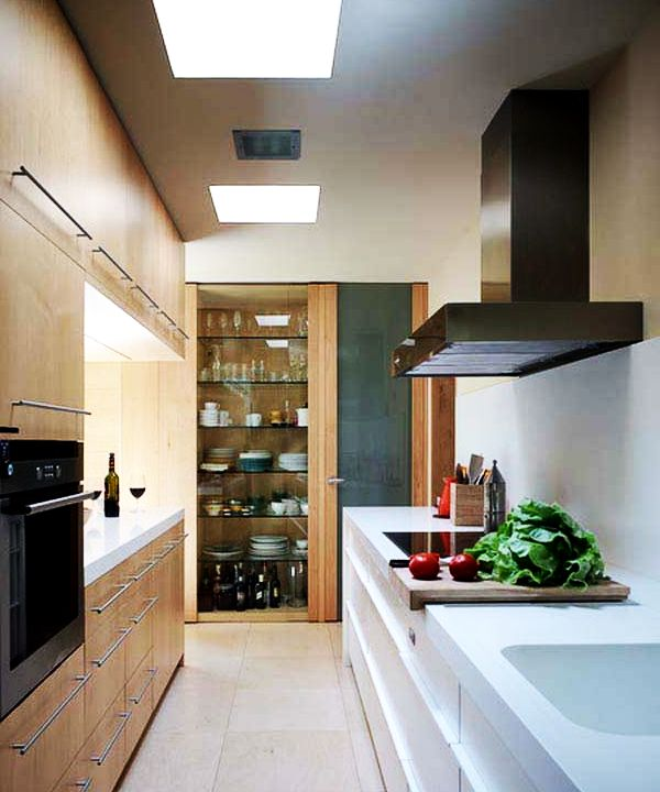 Best paint colors for small spaces - Modern kitchen small space decor ...