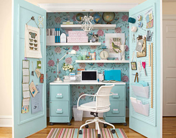 small home office for girls DIY: Converting Small Spaces into Big Characters
