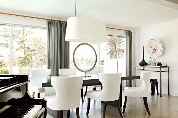 Dining room decorating ideas 19 designs that will inspire you for Modern white dining room chairs