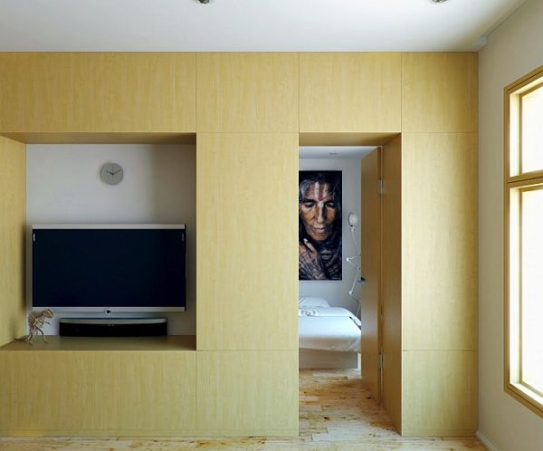 Fold Away Furniture concealed & fold-away furniture for this awesome apartment
