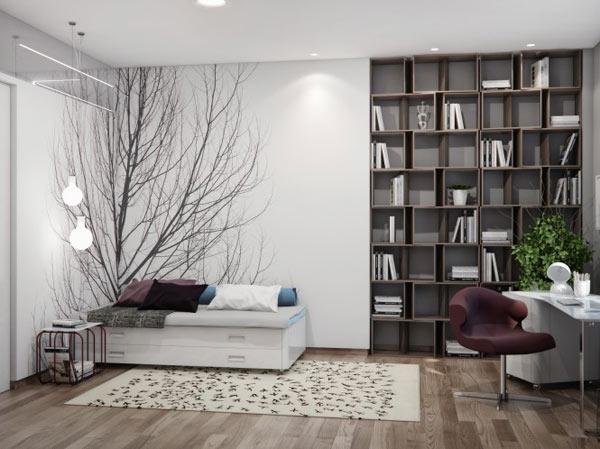 spacious modern ukranian apartment 10 – bookshelves design