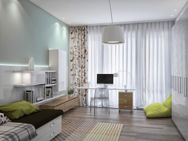 spacious modern ukranian apartment 15 – teenage bedroom idea
