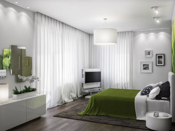spacious modern ukranian apartment 17 – large white bedroom decorating
