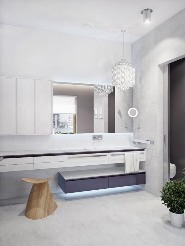 spacious modern ukranian apartment 19 – white luxury bathroom decorating