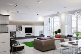 spacious modern ukranian apartment 2 - contemporary living room