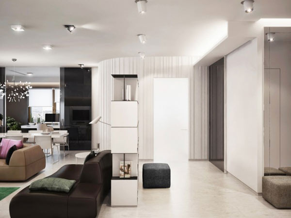 Luxurious Apartment in Ukraine Showcases sleek organization and ...
