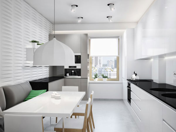 spacious modern ukranian apartment 8 – white kitchen