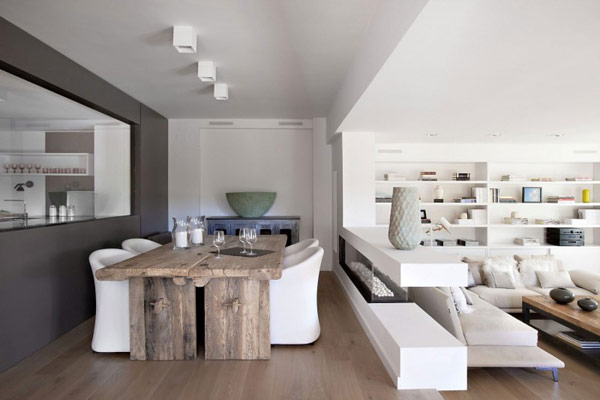 Beauty of white interiors vivienda en llaveneres in spain for Deco appartement t2