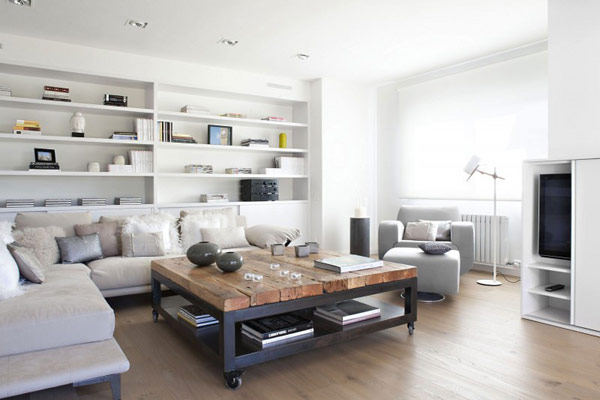 white contemporary home in spain 2 Beauty of White Interiors: Vivienda en Llaveneres in Spain