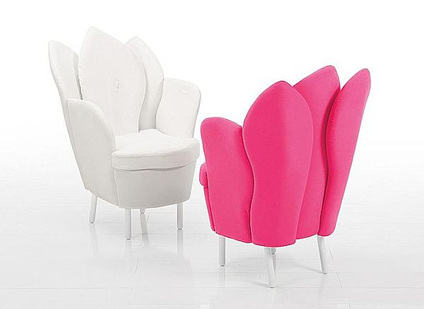 white-pink-leather-chair-morning-dew
