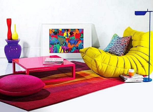 White Room With Colorful Furniture
