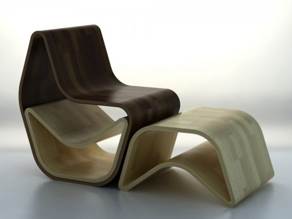 wooden GVAL Chair GVAL Wooden Chair draws inspiration from nature with stylish curves