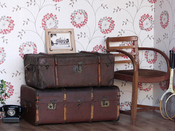 wooden chest steamer trunk DIY Fusion Of Styles: Compromising in an Artistic Way