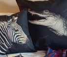 zebra and croc pillow cushion