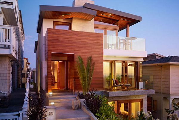 Beach house in california draws inspiration from south for Modern house design los angeles