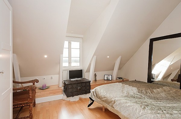Attic Apartment Decoration 14 – white bedroom decoration