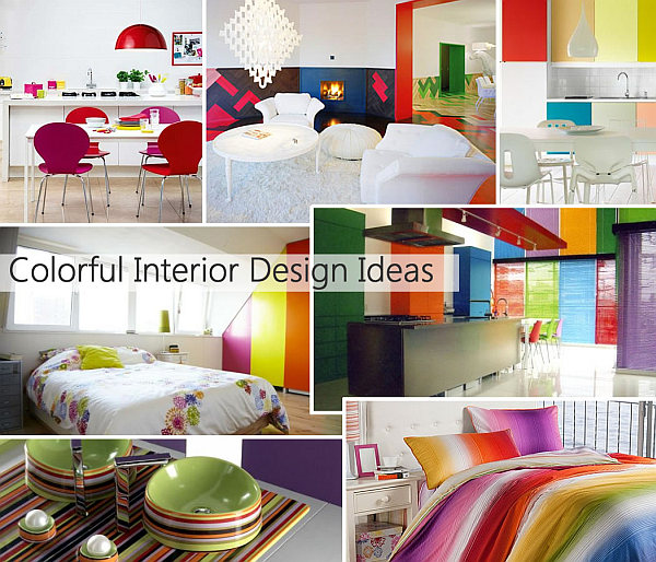 Rainbow designs 20 colorful home decor ideas for Home living room interior design ideas