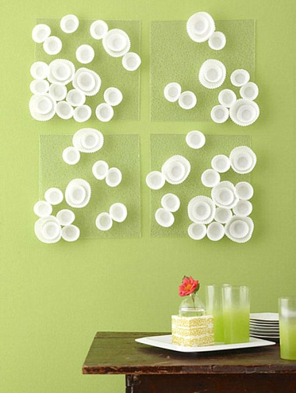 Elegant View in gallery DIY cupcake wrapper wall art