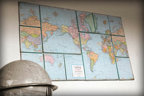 Unique View in gallery DIY world map wall art