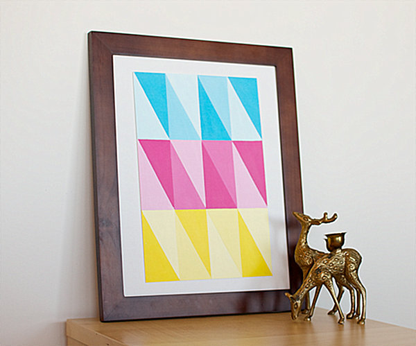 Marvelous DIY modern triangle framed wall art