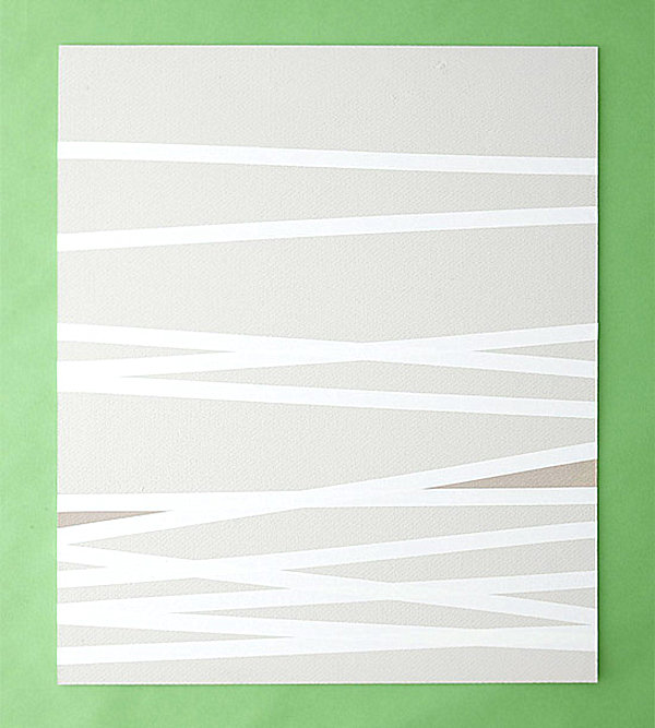 DIY paint and tape wall art