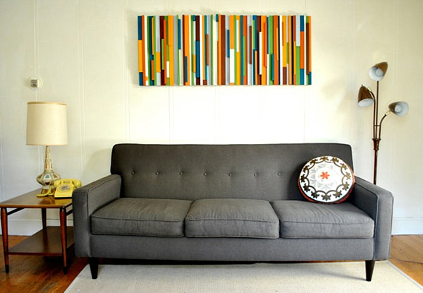 wall art ideas for living room diy. View in gallery DIY painted  colorful wood wall art 25 Wall Art Ideas That Spell Creativity a Whole New Way
