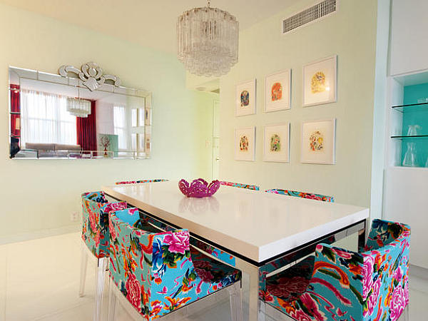 Floral-patterned-neon-chairs