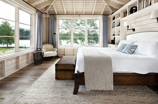 White And Wood Bedroom diy wood walls: inspiration & how to install them
