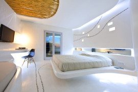 Decorating With White: Cocoon Suite at Hotel Andronikos Brings The Irregular Aesthetics Indoors