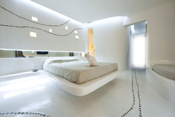 Hotel Andronikos Mykonos Irregular Lines And Cycladic Inspiration 2 Decorating With White: Cocoon Suite at Hotel Andronikos Brings The Irregular Aesthetics Indoors
