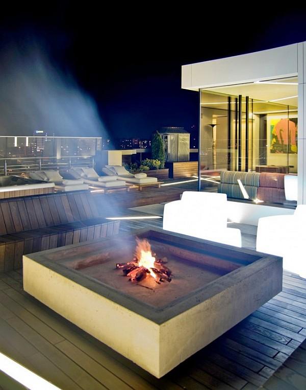 Industrial Loft Apartment 14 – outdoor patio furniture on terrace