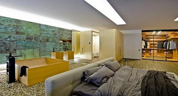 Industrial Loft Apartment 7 – exquisite bathroom, bedroom decor
