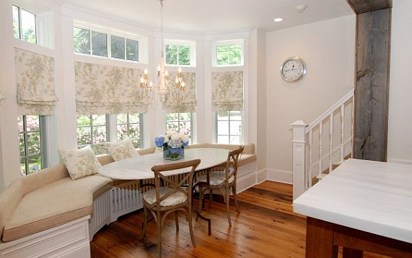 How to utilize the bay window space - Kitchen bay window treatments ...