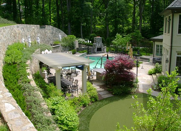 Landscape Pool Sculpture Garden Ideas for Instantly Improving Curb Appeal