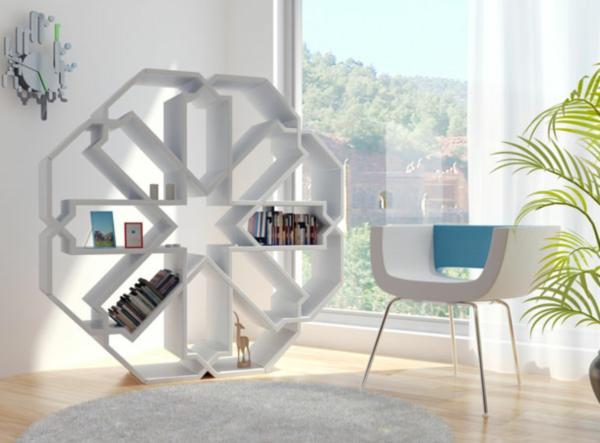 Moroccan-style-bookshelf