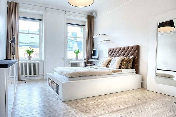 simple stylish one bedroom apartment in the heart of stockholm - How To Decorate A One Bedroom Apartment