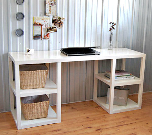 View in gallery Parsons-style modern DIY desk