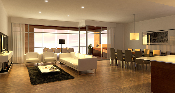 The apartment comes with two car bays and offers easy walking access ...